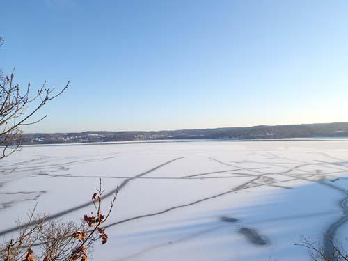 Utsikten över Aspen från Klätterserien #1 var fantastisk denna strålande vinterdag.