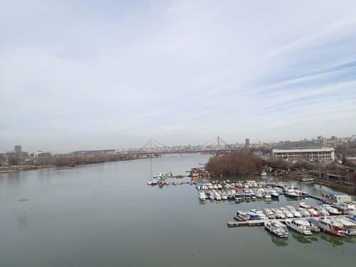 En sista blick ut över Belgrad.