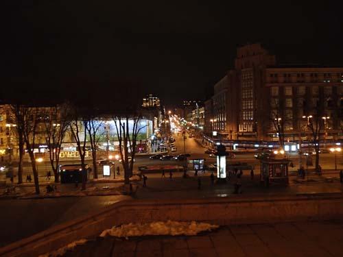 Kiev på kvällen.