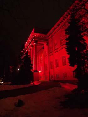 Universitetet i rött ljus.