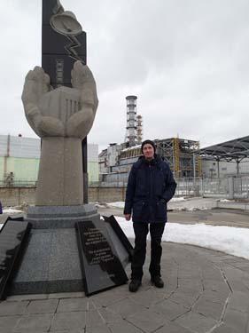 Även Hallén posserade vid reaktorn. (Foto: TMR68)