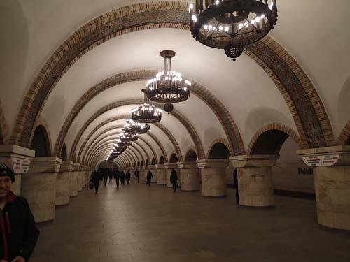 Stationerna i tunnelbanan var verkligen imponerande!