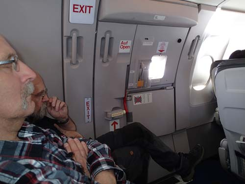 Det var ganska gott om benutrymme på detta flyg!