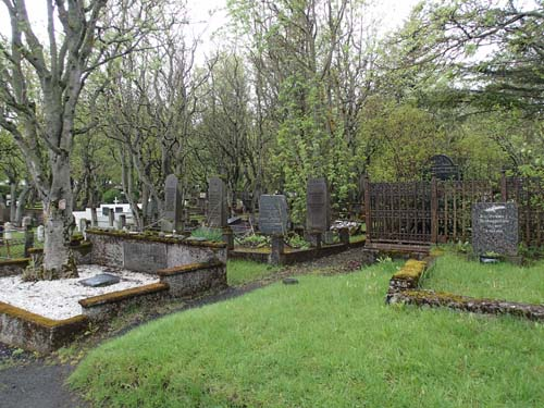 Inside the cemetry, outside the cache...