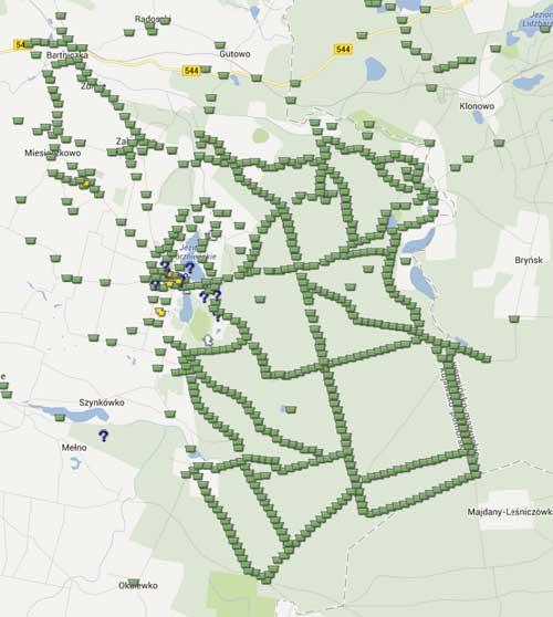 Det är inte någon brist på cacher i närheten av Gorzno!