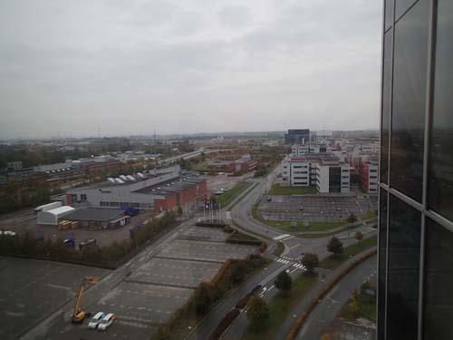 Utsikt från 11:e våningen från min tillfälliga geocachingbas!
