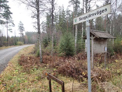 Vi började med att gå på järnvägen i skogen...!
