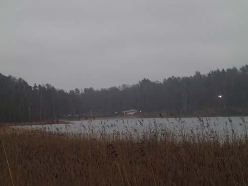 Så här vacker och inbjudande är Härlanda tjärn en dryg vecka före jul 2013.