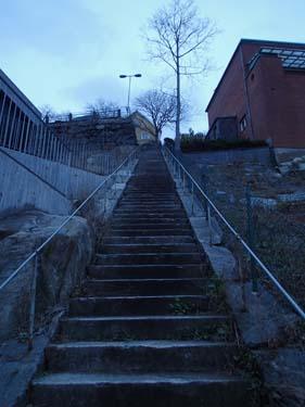 Här kunde man trappa ner eller upp!
