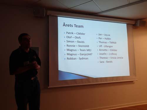 Kul att se sitt namn som en del av detta Team!