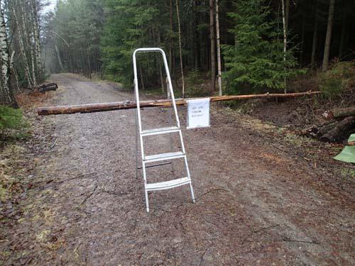 Vägen stängd