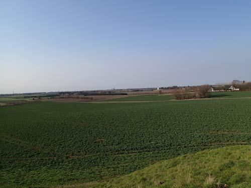 Utsikt från Gravhögen in mot Roskilde.