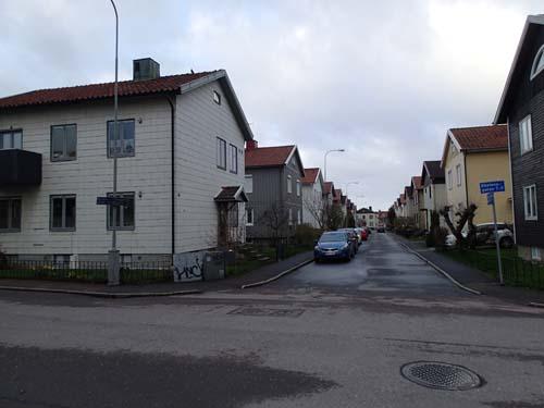 Typisk gata i (nya) Kålltorp.