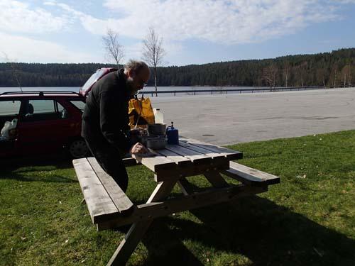 Vi unnade oss att ta en liten matpaus under vår transport genom Norge.