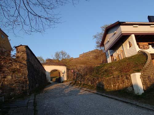 Port in till Fredrikstens fästning.