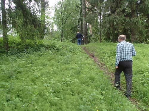 Ingabo passerar fornborgsvallen.