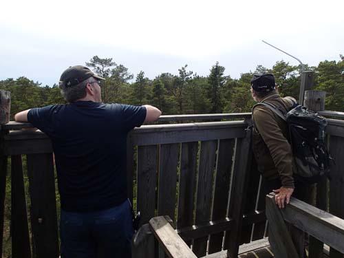 Monway och Ingabo beundrar utsikten.
