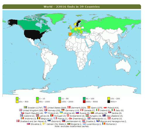 Denna gång är det värt att även visa världskartan.