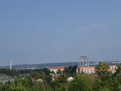 Innan jag åter passerade GC-bron var utsikten bort mot Älvsborgsbron fantastisk.