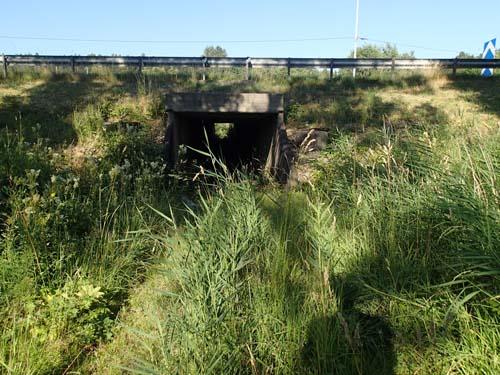 Det finns många små övergivna tunnlar under motorvägen, de flesta fyllda med vatten. De byggdes för jordbrukets behov, men idag finns inte många bönder kvar på Hisingen.