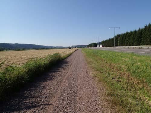 Det blev många kilometer i bruset utmed motorvägen.
