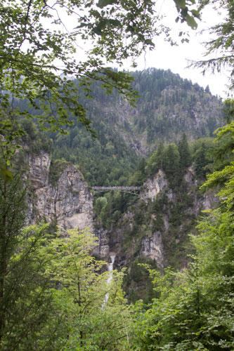 Bron sedd från slottet, det var ganska högt.