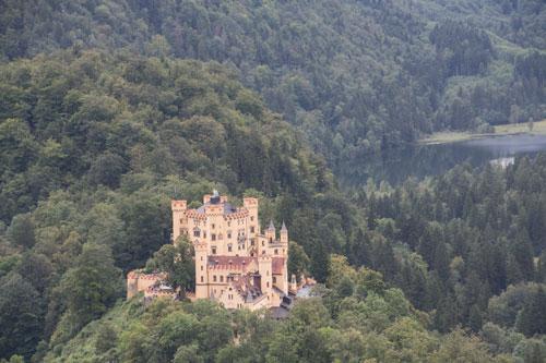 Närbild av Schloss Hohenschwangau