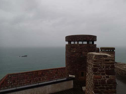 Tornen på slottet byggdes om av tyskarna för att tjäna som observationstorn.