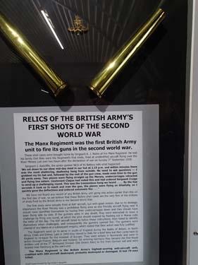 Lite oväntat att hitta de första brittiska skotten under WWII i detta lilla museum!
