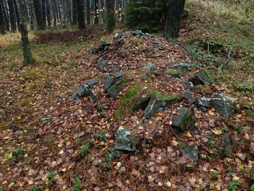 Skräpsten som stenhuggare lämnat efter sig.
