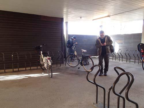 Kan det finnas en cache i cykelhuset?
