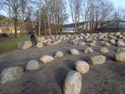 Många stenar