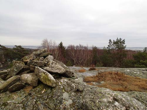 Det var fin utsikt från toppen ovan cachen Horisonten.