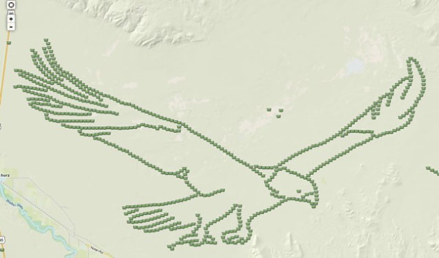 En geo-art med 650 burkar.
