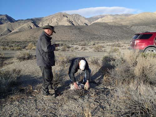 Vad gör herrarna i öknen - nej - det är inte LOGGNING av en burk som pågår...