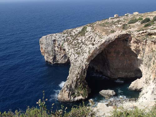 Nog är det en blå grotta!