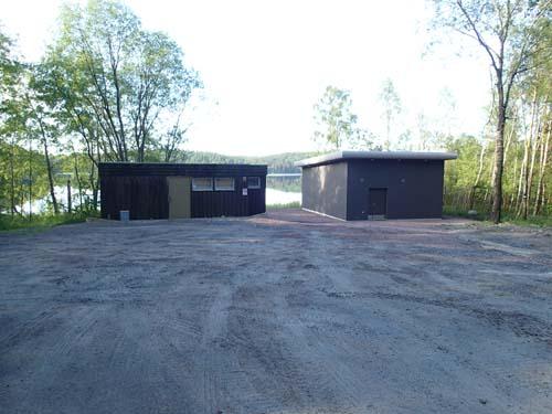 Ett nytt hus för att hämta vatten ur Kåsjön har uppförts.