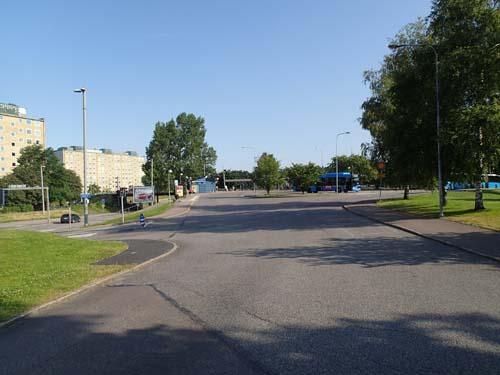 Marklandsgatan, men cachen låg på en grönare plats....
