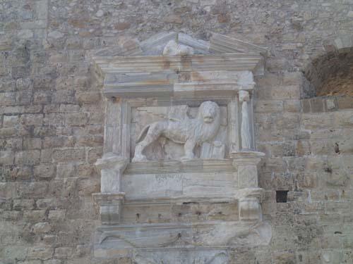 Venedigs symboler syns överallt i denna trakt!