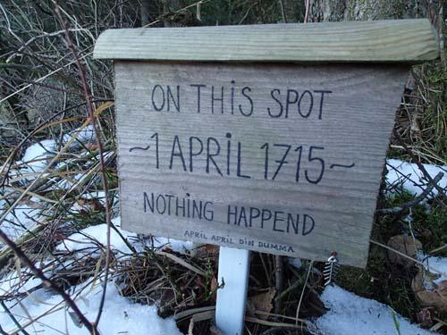 Här hände inget