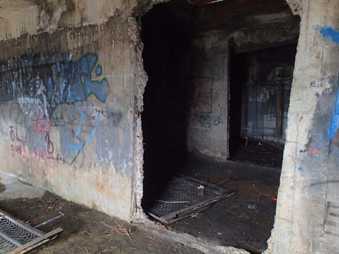 Inne i bunkern
