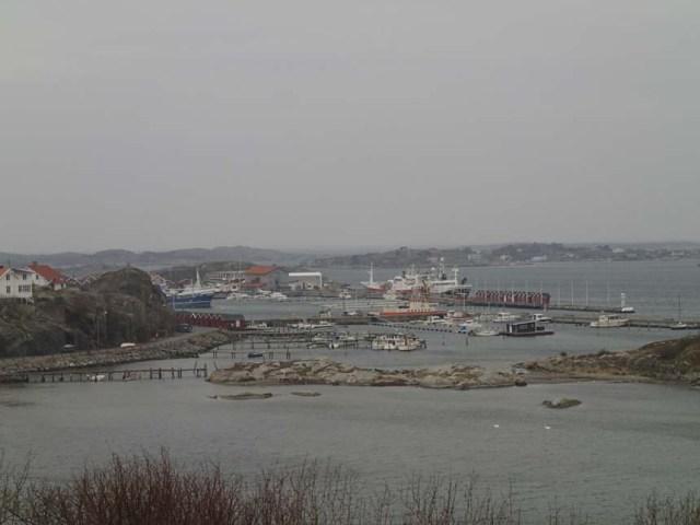 Vy över Donsö hamn