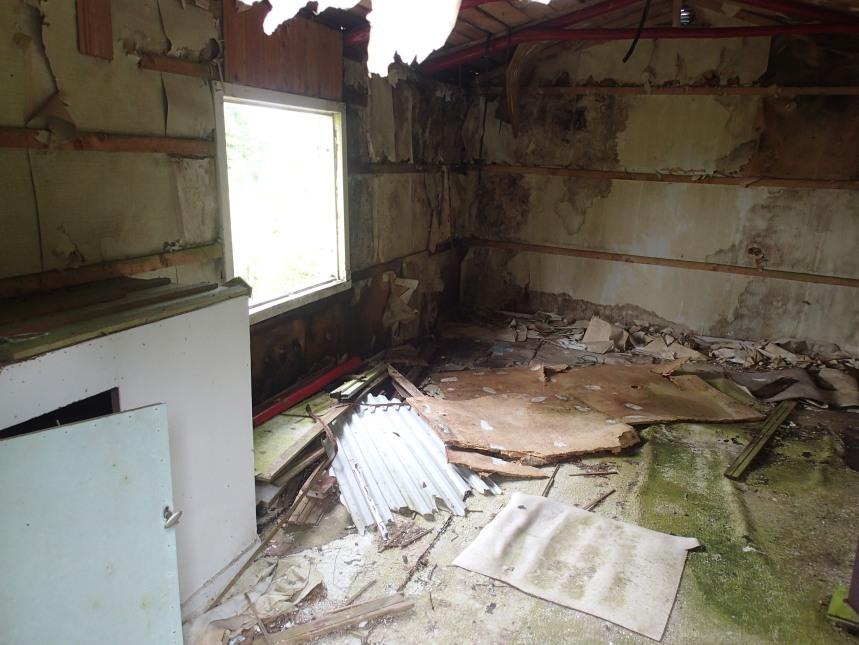 Han lär inte hinna cacha något om han skall renovera detta hus!