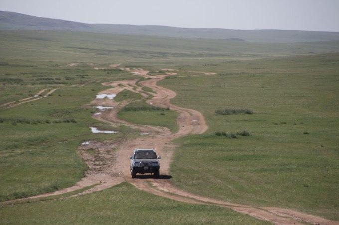 Vilken väg (hjulspår) väljer man här, höger, vänster, mitten.... det spelar inte så stor roll