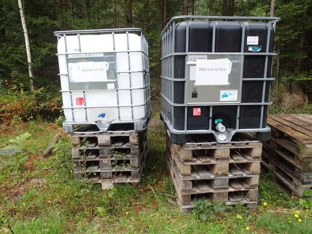 Det fanns oväntat mycket dricksvatten i skogen!