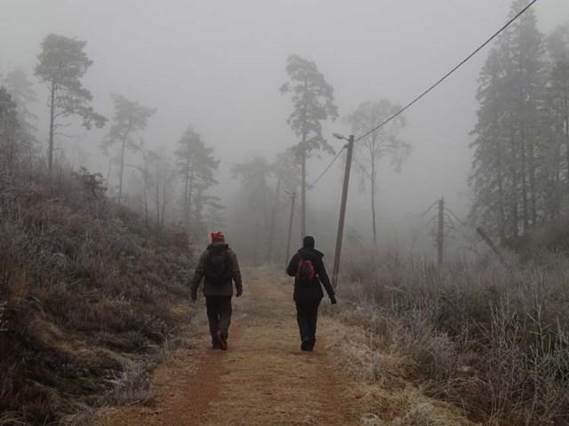 Dimman låg mestadels tät